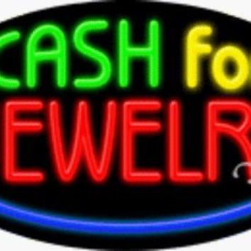 Cash For Jewelry Handcrafted Energy Efficient Real Glasstube Flashing Neon Sign