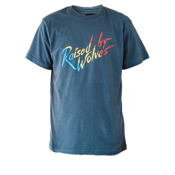 Raised by Wolves Paint T-Shirt Charcoal
