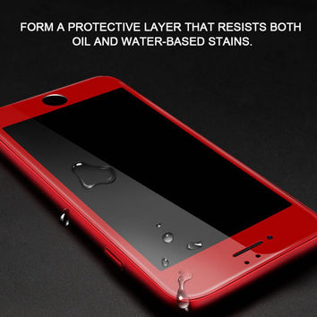 2pcs/lot 9H Full Screen Tempered Glass For iPhone 7 7Plus & iPhone 6s 6 Plus Coating Glass Protective