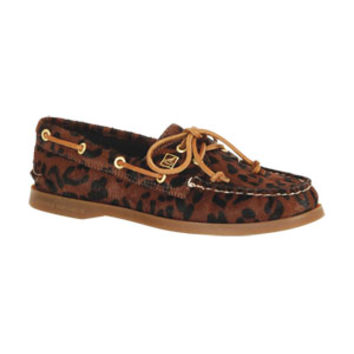 Sperry A/O Ponyhair Leopard - Dark Brown