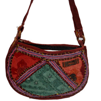 Indian Hand Made Hand Embroidered Vintage Banjara Mirror Work Antique Purse Sadhu Bags Shoulder Bags New Art BG-116