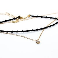 Star moon choker set