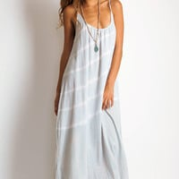 9 Seed Spaghetti strap long coverup air tie dye