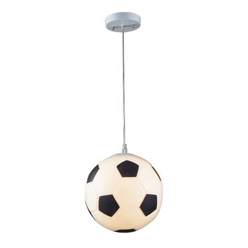 ELK 1 Light Soccer Ball Pendant In Silver - 5123/1
