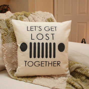 Let's Get Lost Together - Jeep Pillow