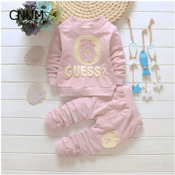 Overalls 2Pcs Set Outfit Clothes Children Set Kids Sport Suit Autumn Boys Sets Pullover Kids Boy Cloth Girls Back School Outfit
