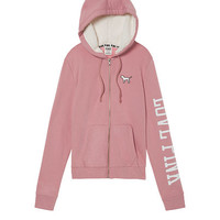 Perfect Sherpa Lined Hood Full-Zip - PINK - Victoria's Secret