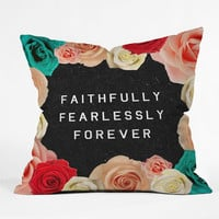 Deny Designs Forever Throw Pillow Black Combo One Size For Women 23688914901