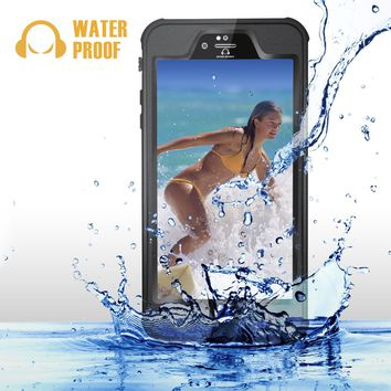 iPhone 6 Plus / 6s Plus Waterproof Case, GearShield Sport Waterproof, Dust Proof, Snow Proof Protective Case with Anti-Reflective Lens for High Quality Photos, IP68 Certified Waterproof