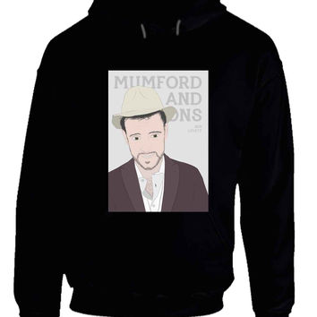 Mumford And Sons Ben Lovett Vektorrize Hoodie