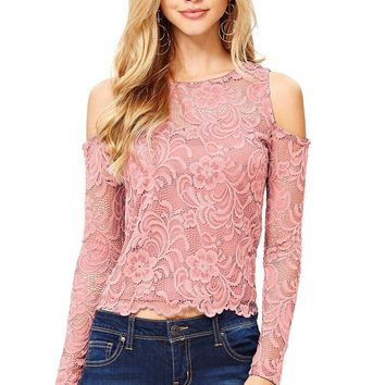 Lila Lace Top