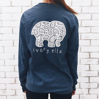 Pocketed True Navy Paisley Print