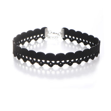 Streetstyle  Casual Punk Hollow Skull Choker Necklace