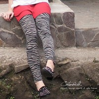 Western Style Individuality Printing Leggings Zebra-Wholesale Women Fashion From Icanfashion.com