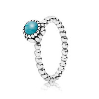 Pandora Turquoise December Birthday Bloom Ring