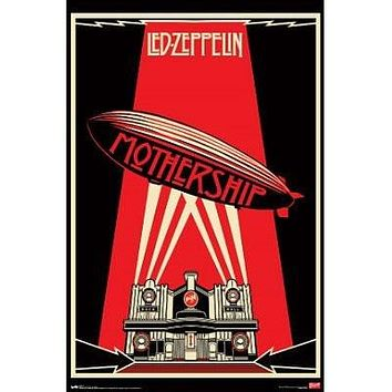 Led Zeppelin Mothership Music Poster Print