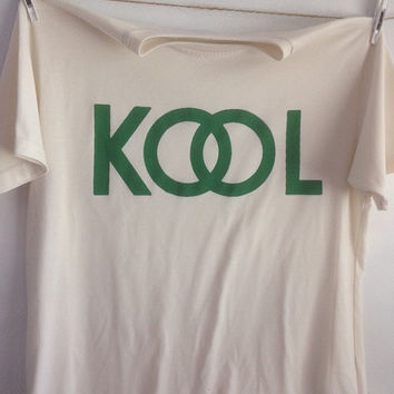 KOOL White Cotton Tshirt