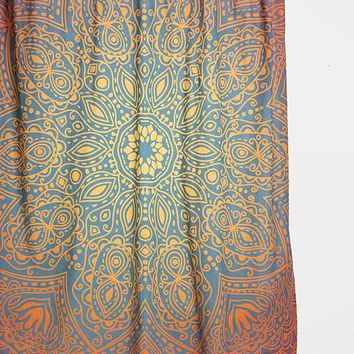 Magical Thinking Glow-Medallion Shower Curtain- Rust One