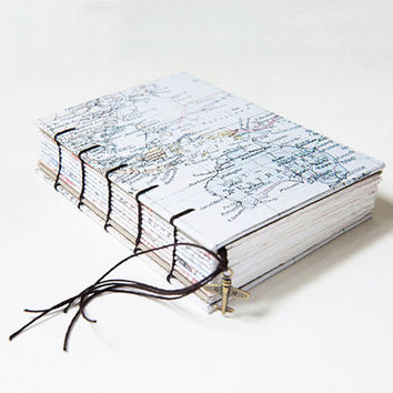 Travel Journal, Notebook, Sketchbook - World Traveller Map