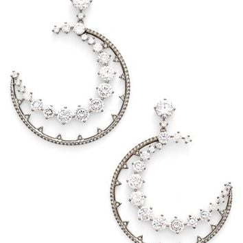 Nadri 'Crescent' Cubic Zirconia Drop Earrings | Nordstrom