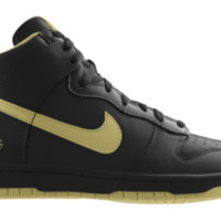 Nike Dunk High NFL New Orleans Saints iD Custom Men's Shoes - Black