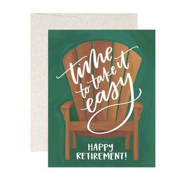 Retirement Chair Card