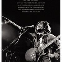 Bob Marley: One Love Lyrics Art Print