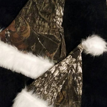Camouflage Santa Hat - Baby/Child size