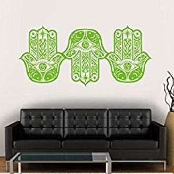 Wall Decal Vinyl Sticker Decals Art Decor Design 3 Hamsa Hands yin yang Indian Buddha Ganesh Lotos Modern Bedroom Dorm Office Mural (r1155)