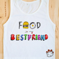 S, M, L - Kids Shirt Food Is My BestFriend Shirt Hamburger Shirt Colorful Shirt Kids Tank Top Women Shirt Kids Tunic Singlet Vest Sleeveless