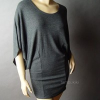 MINIMALIST Dolman Slv Sweater Knit Top Shirt Tunic L