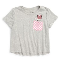 Mighty Fine Minnie Bow Peep Pocket Tee (Toddler Girls, Little Girls & Big Girls) | Nordstrom