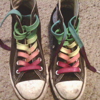 CUSTOM Hand Dyed Shoe Laces (63 inch length) High Top Converse Vans