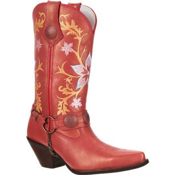 Crush by Durango Women's Embroidered Harness Western Boot