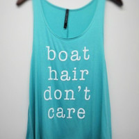 Boat Hair Don't Care Tank: Mint