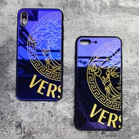 Versace Fashion New Letter Human Head Print Women Men Protective Cover Phone Case