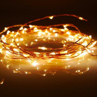 100 LED Battery Powered Fairy String Lights Christmas Holiday Wedding Party 33ft FREE SHIPPING