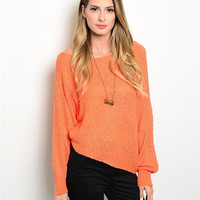 Laid Back Orange Sweater