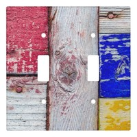 Funny Neoplasticism wooden art style Light Switch Cover