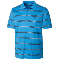 Carolina Panthers Cutter & Buck Embossed Tackle Stripe DryTec Performance Polo – Carolina Blue