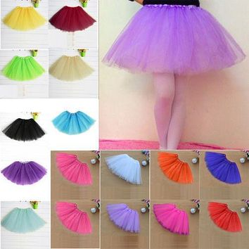 Women Girl Pretty Elastic Stretchy Tulle Teen 3 Layer Adult Tutu Skirt Adult Party Costume Petticoat Ballet Princess Pettiskirt