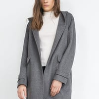 """HANDMADE"" WOOL COAT WITH HOOD"