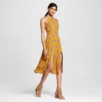 Women's Tie-back Midi Dress Yellow - Xhilaration™ (Juniors') : Target