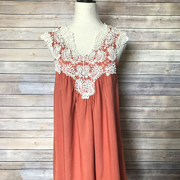 Forever Fun Apricot Dress