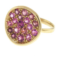 14 Karat Yellow Gold Pink Tourmaline Ring