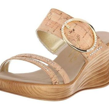 DCCKAB3 Onex Cynthia Wedge Cork Sandals