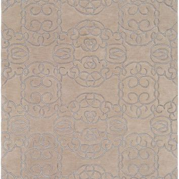 Surya Vernier Medallions and Damask Neutral VRN-1002 Area Rug