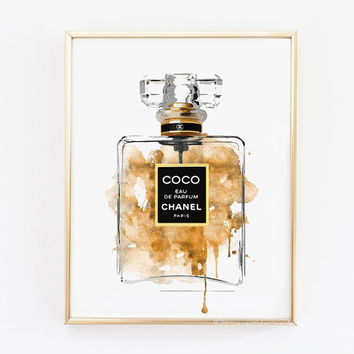 Chanel Perfume bottle.Coco printable poster. N5 printable perfume.Coco perfume. Fashion printable poster. Fashion artwork