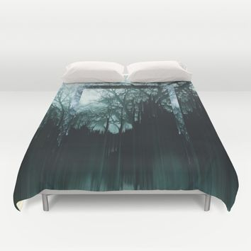Tree Lines Duvet Cover by Ducky B