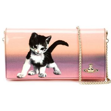Vivienne Westwood Long Kitten Print Wallet With Chain - Anastasia Boutique - Farfetch.com